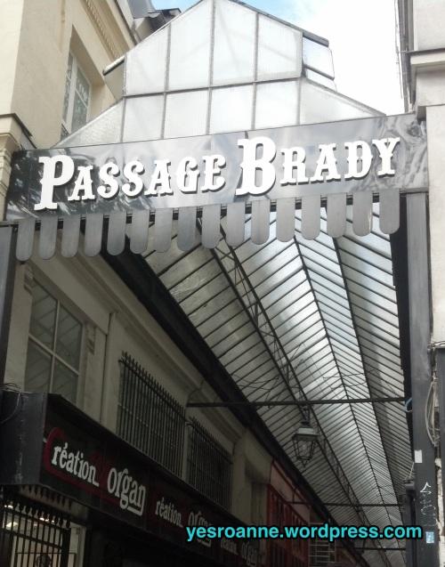 Passage Brady in Paris.