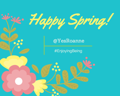 Happy Spring from @YesRoanne